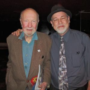 With the late great Pete Seeger at AFM Local 802's 90th Anniversary Celebration 2011. A true musical and social awareness pioneer.